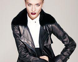 Особенности выбора женского зимнего пальто из кожи
